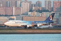 SKYLINEさんが、啓徳空港で撮影したアンセット・オーストラリア航空 747-312の航空フォト(写真)