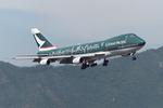 SKYLINEさんが、啓徳空港で撮影したキャセイパシフィック航空 747-267Bの航空フォト(飛行機 写真・画像)
