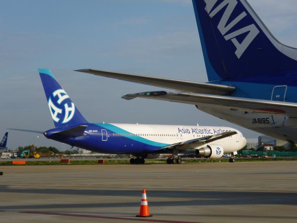 ころちゃんさんのアジア・アトランティック・エアラインズ Boeing 767-300 (HS-AAC) 航空フォト