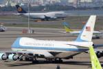 アイスコーヒーさんが、羽田空港で撮影したアメリカ空軍 VC-25A (747-2G4B)の航空フォト(写真)
