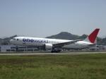 やさい弁当さんが、松山空港で撮影した日本航空 767-346/ERの航空フォト(写真)