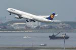 パンダさんが、羽田空港で撮影したルフトハンザドイツ航空 A340-642Xの航空フォト(写真)
