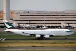 AkiChup0nさんが、羽田空港で撮影したキャセイパシフィック航空 747-467の航空フォト(写真)