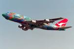SKYLINEさんが、成田国際空港で撮影したカンタス航空 747-338の航空フォト(飛行機 写真・画像)