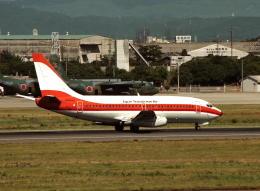 wunalaさんが、名古屋飛行場で撮影した日本トランスオーシャン航空 737-2Q3/Advの航空フォト(飛行機 写真・画像)