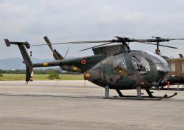 チャーリーマイクさんが、築城基地で撮影した陸上自衛隊 OH-6Dの航空フォト(飛行機 写真・画像)