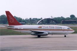 ぷのんさんが、プノンペン国際空港で撮影したロイヤル・クメール・エアラインズ 737-2H4/Advの航空フォト(飛行機 写真・画像)