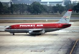 amagoさんが、ドンムアン空港で撮影したプーケット航空 737-2B7/Advの航空フォト(飛行機 写真・画像)