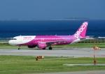 じーく。さんが、那覇空港で撮影したピーチ A320-214の航空フォト(写真)