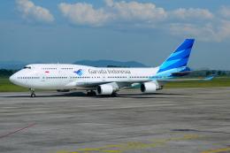 RUSSIANSKIさんが、スルタンハサヌディン国際空港で撮影したガルーダ・インドネシア航空 747-4U3の航空フォト(飛行機 写真・画像)