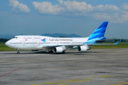 RUSSIANSKIさんが、スルタンハサヌディン国際空港で撮影したガルーダ・インドネシア航空 747-4U3の航空フォト(写真)