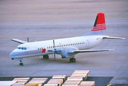 しょうせいさんが、岡山空港で撮影した日本トランスオーシャン航空 YS-11A-214の航空フォト(写真)