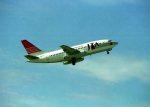 空の旅人さんが、那覇空港で撮影した日本トランスオーシャン航空 737-2Q3/Advの航空フォト(写真)