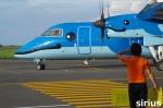 イチカメさんが、天草飛行場で撮影した天草エアライン DHC-8-103Q Dash 8の航空フォト(写真)