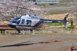 へりさんが、場外で撮影したヘリサービス 206B-3 JetRanger IIIの航空フォト(写真)