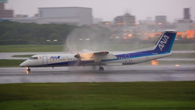 Ariesさんが、伊丹空港で撮影したANAウイングス DHC-8-402Q Dash 8の航空フォト(飛行機 写真・画像)