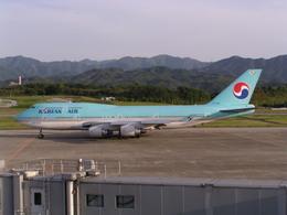 Masaさんが、高松空港で撮影した大韓航空 747-4B5の航空フォト(飛行機 写真・画像)