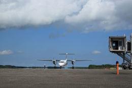 夏奈さんが、中標津空港で撮影した全日空 DHC-8-402Q Dash 8の航空フォト(飛行機 写真・画像)