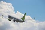 クリューさんが、鹿児島空港で撮影したソラシド エア 737-86Nの航空フォト(写真)