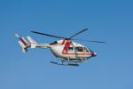 パンダさんが、新潟空港で撮影した朝日航洋 BK117C-2の航空フォト(飛行機 写真・画像)