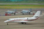 パンダさんが、名古屋飛行場で撮影した朝日航洋 680 Citation Sovereignの航空フォト(写真)