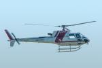 パンダさんが、富山空港で撮影した朝日航洋 AS350B3 Ecureuilの航空フォト(飛行機 写真・画像)