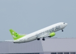 じーく。さんが、羽田空港で撮影したソラシド エア 737-43Qの航空フォト(飛行機 写真・画像)