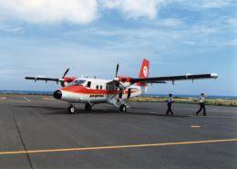 yuenronさんが、礼文空港で撮影したエアー北海道 DHC-6-300 Twin Otterの航空フォト(飛行機 写真・画像)
