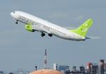 じーく。さんが、羽田空港で撮影したソラシド エア 737-86Nの航空フォト(飛行機 写真・画像)