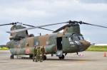 パンダさんが、下総航空基地で撮影した陸上自衛隊 CH-47Jの航空フォト(写真)