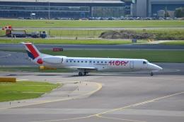 IL-18さんが、アムステルダム・スキポール国際空港で撮影したエールフランス・オップ! ERJ-145EPの航空フォト(飛行機 写真・画像)