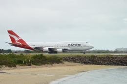 こずぃろうさんが、シドニー国際空港で撮影したカンタス航空 747-48Eの航空フォト(飛行機 写真・画像)