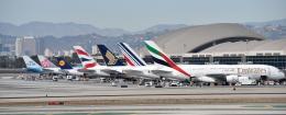 Cimarronさんが、ロサンゼルス国際空港で撮影したエミレーツ航空 A380-861の航空フォト(飛行機 写真・画像)