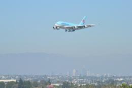 こずぃろうさんが、ロサンゼルス国際空港で撮影した大韓航空 A380-861の航空フォト(飛行機 写真・画像)
