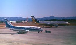 トトちゃんさんが、鹿児島空港で撮影したエアーニッポン 737-281/Advの航空フォト(飛行機 写真・画像)
