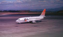 トトちゃんさんが、鹿児島空港で撮影した日本トランスオーシャン航空 737-205/Advの航空フォト(飛行機 写真・画像)