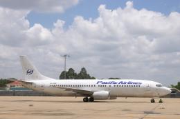安芸あすかさんが、タンソンニャット国際空港で撮影したパシフィック・エアラインズ (〜2008/5) 737-43Qの航空フォト(飛行機 写真・画像)