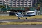 tsubasa0624さんが、調布飛行場で撮影したアイベックスアビエイション 172P Skyhawkの航空フォト(飛行機 写真・画像)