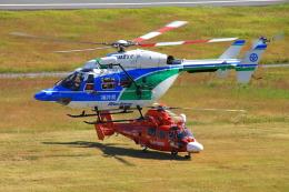 yuuka no kazeさんが、南紀白浜空港で撮影した福井県防災航空隊 BK117C-1の航空フォト(飛行機 写真・画像)