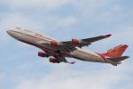 くるくもるさんが、成田国際空港で撮影したエア・インディア 747-437の航空フォト(写真)