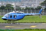 Chofu Spotter Ariaさんが、東京ヘリポートで撮影した日本フライトセーフティ 206B JetRanger IIIの航空フォト(飛行機 写真・画像)