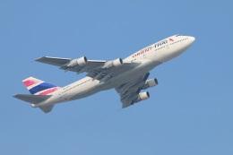 turt@かめちゃんさんが、香港国際空港で撮影したオリエント・タイ航空 747-346の航空フォト(写真)