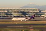 とりてつさんが、羽田空港で撮影したタイ国際航空 747-4D7の航空フォト(写真)