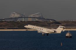 くるくもるさんが、羽田空港で撮影した不明 G-V-SP Gulfstream G550の航空フォト(写真)