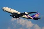 RUSSIANSKIさんが、スワンナプーム国際空港で撮影したタイ国際航空 747-4D7の航空フォト(飛行機 写真・画像)