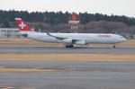 uhfxさんが、成田国際空港で撮影したスイスインターナショナルエアラインズ A340-313Xの航空フォト(飛行機 写真・画像)