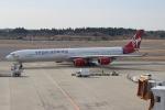 uhfxさんが、成田国際空港で撮影したヴァージン・アトランティック航空 A340-642の航空フォト(飛行機 写真・画像)