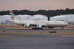 uhfxさんが、成田国際空港で撮影したエティハド航空 A340-541の航空フォト(写真)