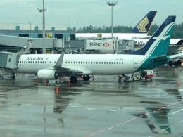 AIR JAPONさんが、シンガポール・チャンギ国際空港で撮影したシルクエア 737-8SAの航空フォト(飛行機 写真・画像)