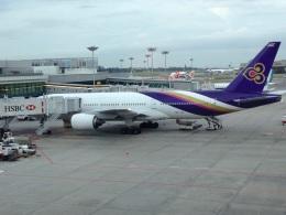 AIR JAPONさんが、シンガポール・チャンギ国際空港で撮影したタイ国際航空 777-2D7の航空フォト(飛行機 写真・画像)